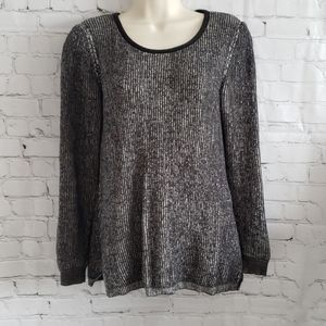 H by Halston scoop neck pullover sweater S